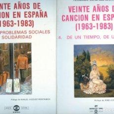 Libros de segunda mano: NUMULITE *2 VEINTE AÑOS DE CANCIÓN EN ESPAÑA Nº 3 Y 4 LOS PROBLEMAS SOCIALES / DE UN TIEMPO. Lote 278422703