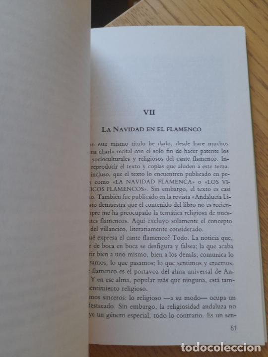 Libros de segunda mano: La espiritualidad en el cante flamenco, Alfredo Arrebola, ed. Universidad de Cadiz, 1988. Raro - Foto 6 - 288499678