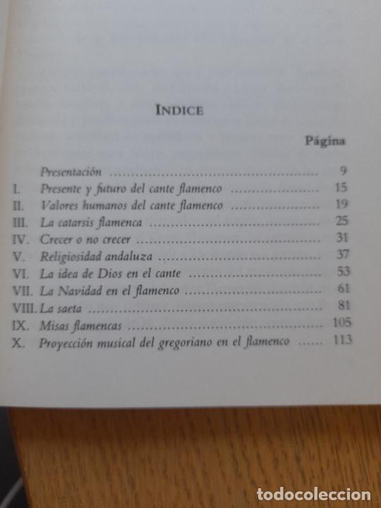 Libros de segunda mano: La espiritualidad en el cante flamenco, Alfredo Arrebola, ed. Universidad de Cadiz, 1988. Raro - Foto 9 - 288499678