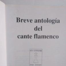 Libros de segunda mano: BREVE ANTOLOGIA DEL CANTE FLAMENCO /MANUEL RIOS VARGAS. Lote 288717068