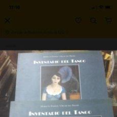 Libros de segunda mano: INVENTARIO DEL TANGO. 2 TOMOS. HORACIO FERRER.. Lote 289515173