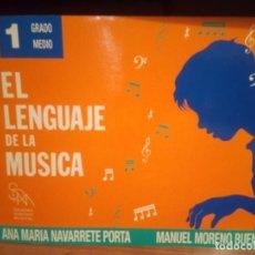 Libros de segunda mano: EL LENGUAJE DE LA MUSICA 1 GRADO MEDIO PIANO ANA MARIA NAVARRETE PORTA. Lote 290100428