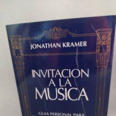 Libros de segunda mano: INVITACIÓN A LA MÚSICA JONATHAN KRAMER.. Lote 293802528