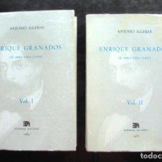 Libros de segunda mano: ENRIQUE GRANADOS. SU OBRA PARA PIANO VOL. I-II ANTONIO IGLESIAS 1985 ALPUERTO EDITORIAL. Lote 295988258