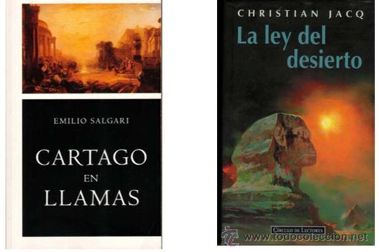 LOTE 2X1 NOVELA HISTÓRICA. CARTAGO - EGIPTO. E. SALGARI / CHRISTIAN JACQ. (Libros de Segunda Mano (posteriores a 1936) - Literatura - Narrativa - Novela Histórica)