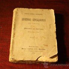 Libros de segunda mano: 0596- LEYENDAS GENEALÓGICAS DE ESPAÑA , TOMO II. ANTONIO DE TRUEBA, 1887. Lote 26061994
