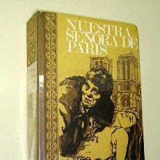 Libros de segunda mano: NUESTRA SEÑORA DE PARIS. VICTOR HUGO. PORTADA DE BARRERA SOLIGO. EDICIONES RODEGAR, 1968. QUASIMODO.. Lote 26344713
