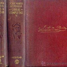 Libros de segunda mano: AGUILAR: PEREDA - OBRAS COMPLETAS. Lote 29072446