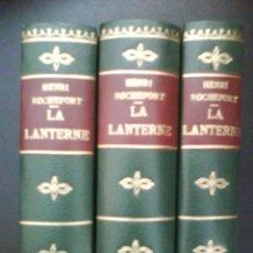 Libros de segunda mano: 1868 - 1869 LANTERNE - HENRI ROCHERFOT / TRES TOMOS. Lote 32305246
