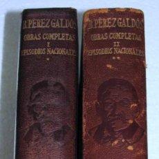 Libros de segunda mano: BENITO PEREZ GALDOS OBRAS COMPLETAS EPISODIOS NACIONALES TOMOS I Y II AGUILAR MADRID AÑOS 1944 1945. Lote 36890843