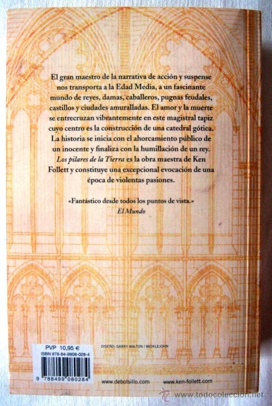 Libros de segunda mano: LOS PILARES DE LA TIERRA – KEN FOLLET. DEBOLSILLO. Edición bolsillo tapa blanda. - Foto 2 - 37459005