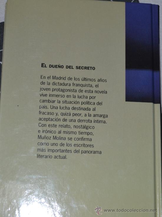 Libros de segunda mano: El dueño del secreto-Antonio Muñoz Molina-Narrativa de hoy-1997 - Foto 2 - 38475885