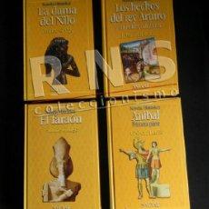 Libros de segunda mano: LOTE NOVELAS HISTÓRICAS EL FARAÓN ANÍBAL DAMA DEL NILO REY ARTURO NOVELA HISTÓRICA SALVAT LIBRO. Lote 38480621