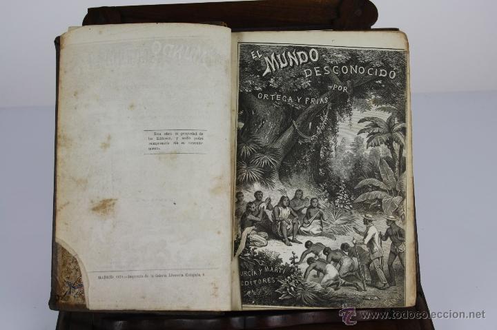 5874- EL MUNDO DESCONOCIDO. ORTEGA Y FRIAS. EDIT. MURCIA Y MARTI. S/F. 3 TOMOS. (Libros de Segunda Mano (posteriores a 1936) - Literatura - Narrativa - Novela Histórica)