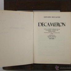 Libros de segunda mano: 4411- DECAMERON. GIOVANNI BOCCACCIO. EDIT. NAUTA. 1969.. Lote 41333667