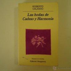 Libros de segunda mano: LAS BODAS DE CADMO Y HARMONÍA. Lote 41987124