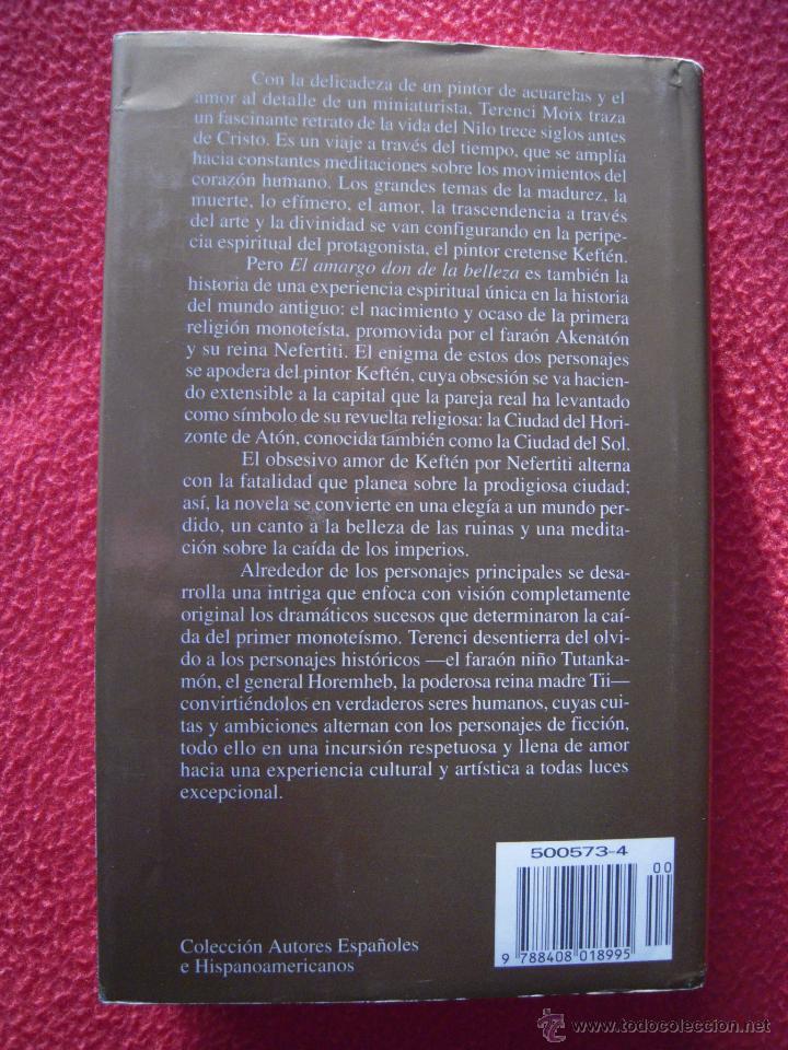 Libros de segunda mano: EL AMARGO DON DE LA BELLEZA - TERENCI MOIX - Foto 2 - 42353640