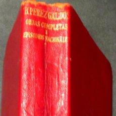 Libros de segunda mano: OBRAS COMPLETAS TOMO 1 BENITO PÉREZ GALDÓS AGUILAR AÑO 1958. Lote 42758935