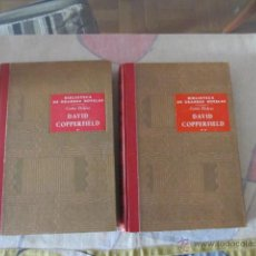 Libros de segunda mano: M69 LIBRO BIBLIOTECA DE GRANDES NOVELAS DAVID COPPERFIELD 2 TOMOS DICKENS SOPENA 1948. Lote 43923286
