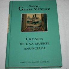 Libros de segunda mano: CRONICA DE UNA MUERTE ANUNCIADA - GABRIEL GARCIA MARQUEZ - RBA EDITORES 2003. Lote 44275709