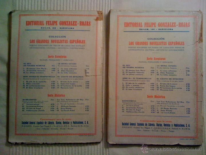 Libros de segunda mano: Lote dos novelas de Los Tres Ballesteros del Rey. Manuel Fernández y González. Originales años 40 - Foto 2 - 46110877