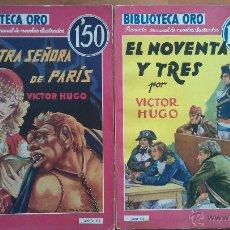 Libros de segunda mano: BIBLIOTECA DE ORO : DOS TÍTULOS DE VICTOR HUGO. Lote 204706987