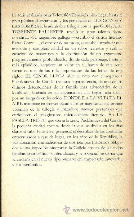Libros de segunda mano: LOS GOZOS Y LAS SOMBRAS - TOMO I: El señor llega - G. Torrente Ballester - Alianza Editorial - 1983 - Foto 2 - 49733895