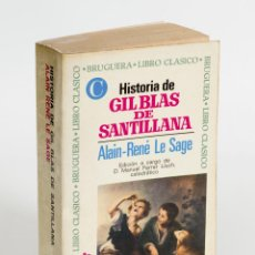 Libros de segunda mano: HISTORIA DE GIL BLAS DE SANTILLANA. ALAIN-TENÉ LE SAGE. 1970 BRUGUERA LIBRO CLÁSICO.. Lote 50723968