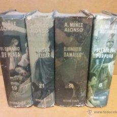 Libros de segunda mano: BENASUR DE JUDEA. DENARIO DE PLATA, LAZO PURPURA, PIEDRA Y EL CESAR, HOMBRE DE DAMASCO. NUÑEZ ALONSO. Lote 50965522
