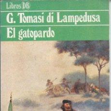 Libros de segunda mano: G TOMASI DI LAMPEDUSA - EL GATOPARDO. Lote 53047563