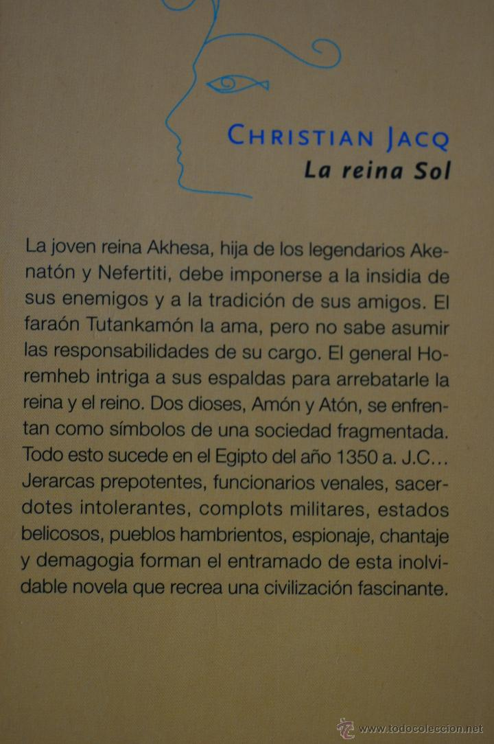 Libros de segunda mano: LA REINA SOL. POR CHRISTIAN JACQ - Foto 2 - 53840541