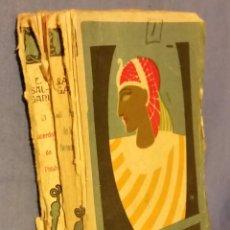 Libros de segunda mano: LAS HIJAS DE LOS FARAONES - EMILIO SALGARI - 1941 - EL SACERDOTE DE PHTAH - NOVELAS COMPLETAS - RARO. Lote 54985820