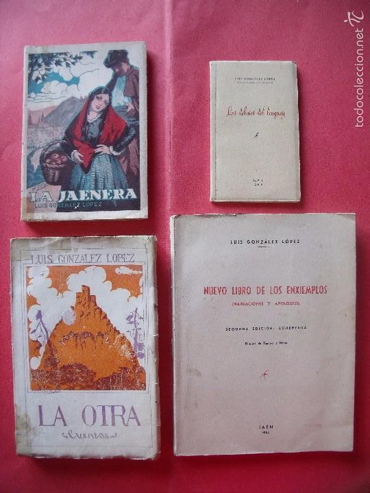 LUIS GONZALEZ LOPEZ.-LOS DEBATES DEL LENGUAJE.-LA JAENERA.-LA OTRA.-NUEVO LIBRO DE LOS ENXIEMPLOS. (Libros de Segunda Mano (posteriores a 1936) - Literatura - Narrativa - Novela Histórica)