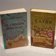 Libros de segunda mano: MATILDE ASENSI - EL ORIGEN PERDIDO - EL ÚLTIMO CATÓN. Lote 45850922