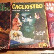 Libros de segunda mano: ALEJANDRO DUMAS- 3 NOVELAS AÑOS 50. EDITORIAL TOR... Lote 65882054