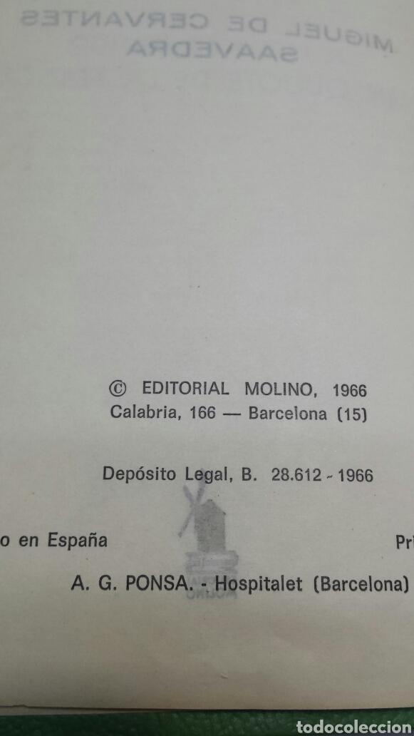 Libros de segunda mano: EL INGENIOSO HIDALGO DON QUIJOTE DE LA MANCHA - MIGUEL DE CERVANTES - EDITORIAL MOLINO AÑO 1966 - Foto 2 - 68180021