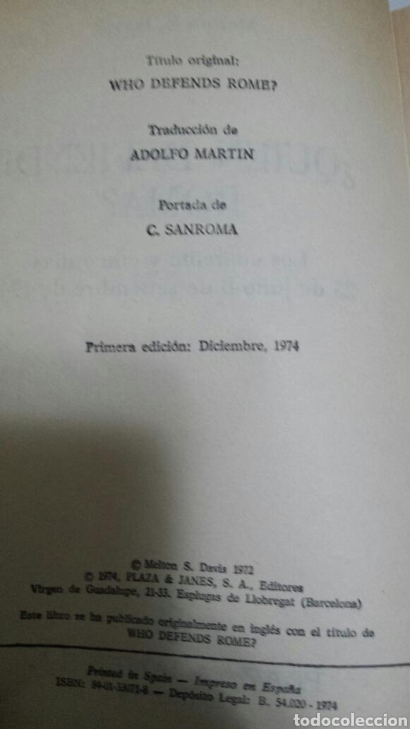 Libros de segunda mano: Libro Quien Defiende Roma de Melson S. Davis año 74 - Foto 2 - 68414097