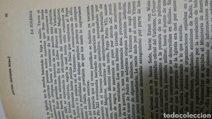 Libros de segunda mano: Libro Quien Defiende Roma de Melson S. Davis año 74 - Foto 3 - 68414097