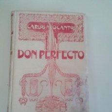 Libros de segunda mano: DON PERFECTO-CARLOS MARIA OCANTOS-NOVELAS ARGENTINAS-ED. MONTANER Y SIMON-1902-TAPA DURA. Lote 73788991