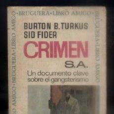 Libros de segunda mano: CRIMEN, S.A. LIBRO AMIGO N.º 17. B. TURKUS, BURTON./ FIDER, SID. A-BRUGAMI-194,2. Lote 77339753