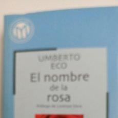 Libros de segunda mano: EL NOMBRE DE LA ROSA, DE UMBERTO ECO. . Lote 81199471
