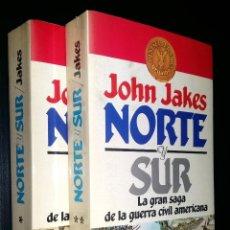 Libros de segunda mano: NORTE Y SUR / LA GRAN SAGA DE LA GUERRA CIVIL AMERICANA / TOMO I Y II / JOHN JAKES. Lote 130905911