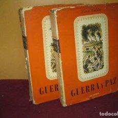 Libros de segunda mano: LEON TOLSTOI. GUERRA Y PAZ. 2 VOL. EDICIONES LAURO 1944.. Lote 100925863