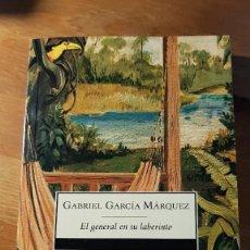 Libros de segunda mano: EL GENERAL EN SU LABERINTO - GABRIEL GARCIA MARQUEZ - 2012. Lote 101627739