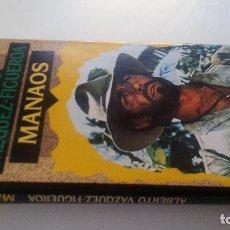 Libros de segunda mano: MANAOS-ALBERTO VAZQUEZ FIGUEROA-CIRCULO DE LECTORES 1992-TAPAS DURAS + CUBIERTA-ILUSTRADO VER FOT. Lote 101711115
