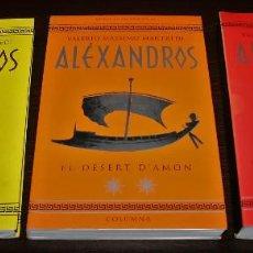 Libros de segunda mano: LOTE 3 LIBROS - VALERIO MASSIMO MANFREDI - ALÉXANDROS - COLUMNA - 1999 - EN CATALÁN. Lote 110761551