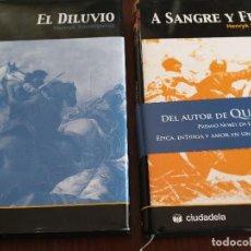 Libros de segunda mano: DOS NOVELAS HENRYK SIENKIEWICZ: EL DILUVIO Y A SANGRE Y FUEGO. Lote 111347871