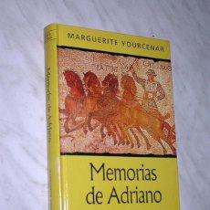 Libros de segunda mano: MEMORIAS DE ADRIANO. MARGUERITE YOURCENAR. NOVELA HISTÓRICA RBA, 2001. TRADUCE JULIO CORTAZAR. +++. Lote 111424211