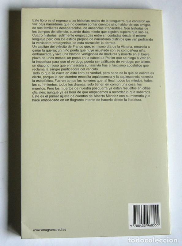 Libros de segunda mano: LOS GIRASOLES CIEGOS - ALBERTO MENDEZ - EDITORIAL ANAGRAMA - Foto 2 - 112289127
