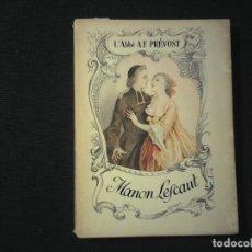 Libros de segunda mano: L'ABBE A.F. PREVOST MANON LESCAUT. Lote 112925139